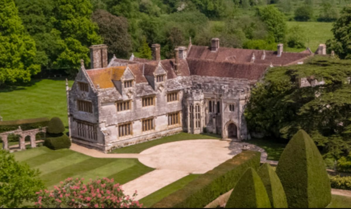 athelhampton house from above