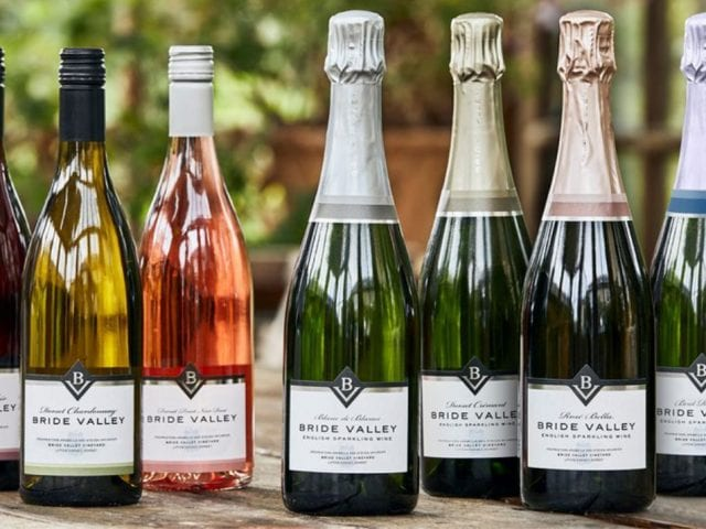 a selection of bride valley wines