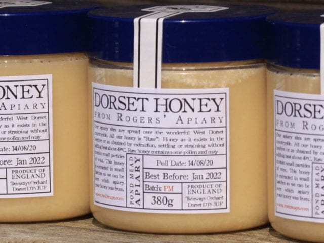 the jars of honey from filberts