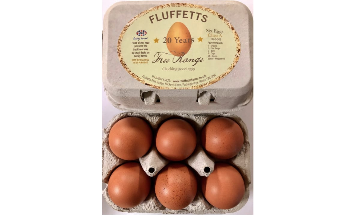 box of eggs from fluffets