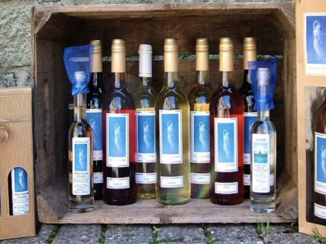 bottles of melbury wine in a box
