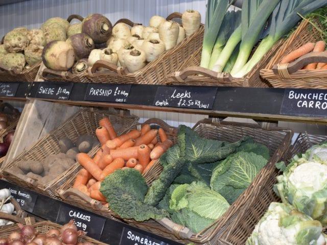 Vegetables at Vine Farm Shop