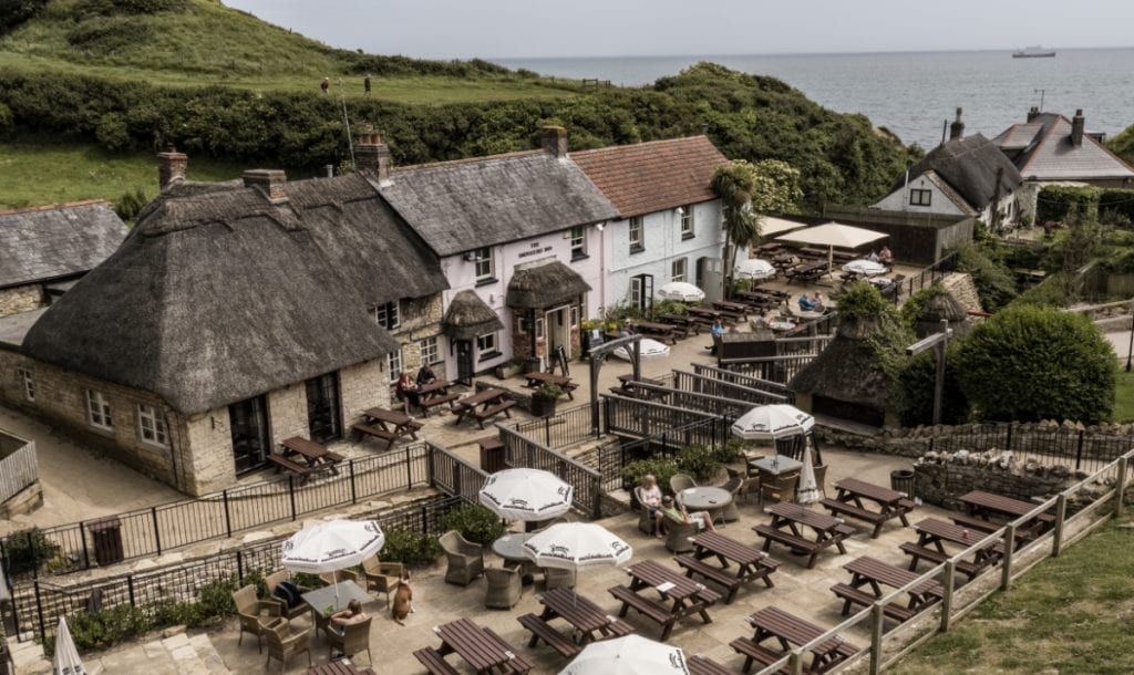 the smugglers inn from above