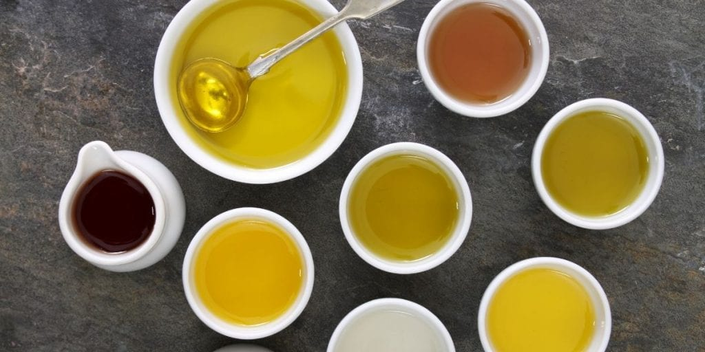 a selection of oils