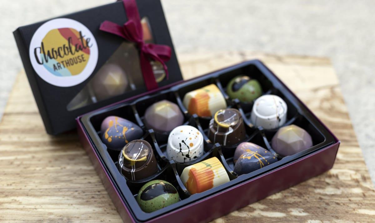box of chocolate art house chocolates