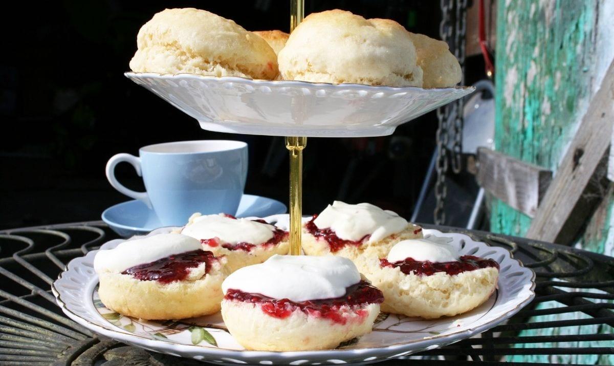 a tier of cream tea
