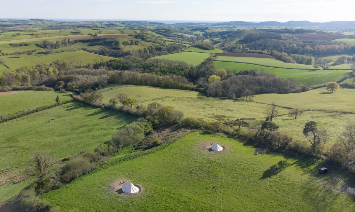 bird's eye view over the mapperton camp
