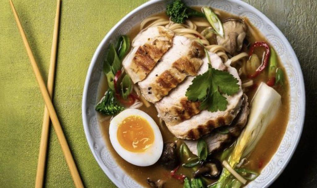 chargrilled chicken ramen